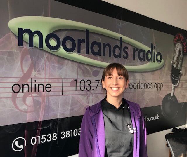 Natasha at Moorlands Radio Staion