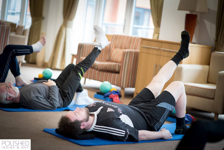 Single Leg Stretch Pilates Exercise